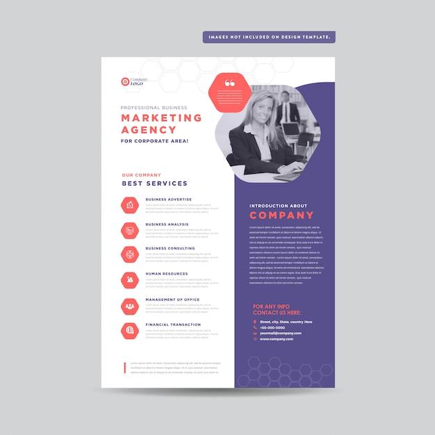 Conception de prospectus d'entreprise | conception du document et du dépliant | conception de fiches marketing