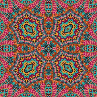 Conception psychédélique de modèle abstrait de mandala