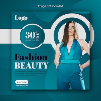 Conception de publication instagram de médias sociaux pour le modèle de promotion de super vente