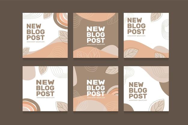 Conception de publication instagram de style bohème