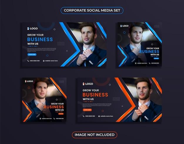 Conception de publication de médias sociaux d'entreprise moderne