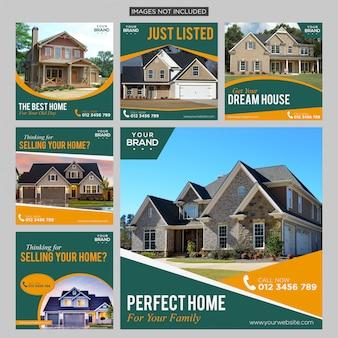 Conception de publications sur les médias sociaux de l'immobilier