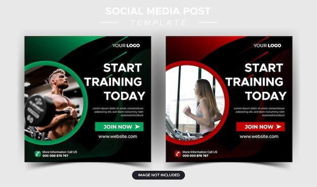 Conception de publications sur les réseaux sociaux et de bannières web pour la salle de fitness