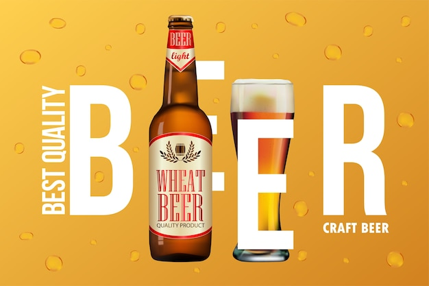 Conception de publicité de bière