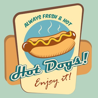 Conception de publicité pour hot-dog