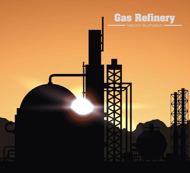 Conception de raffinerie de gaz