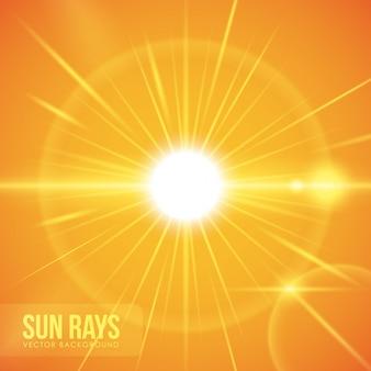 Conception des rayons de soleil.