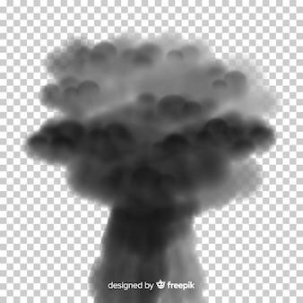 Conception réaliste d'effet de fumée de bombe