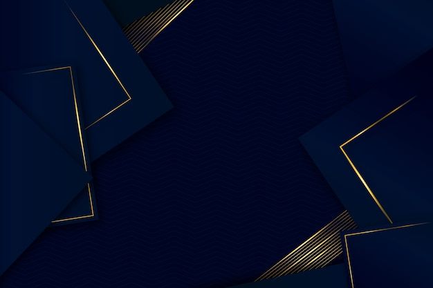 Conception réaliste de fond de formes géométriques élégantes