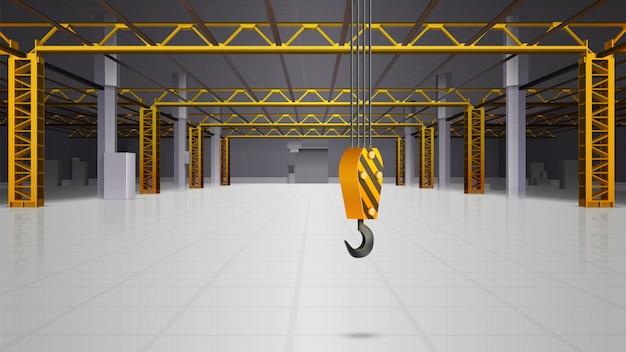 Conception réaliste de l'intérieur de l'entrepôt