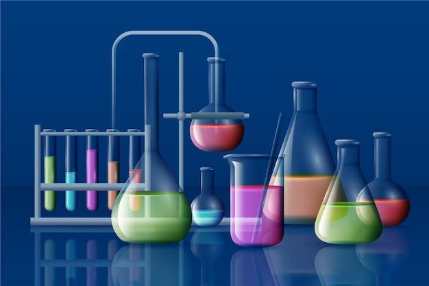 Conception réaliste de laboratoire scientifique