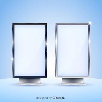 Conception réaliste de panneau d'affichage de boîte à lumière