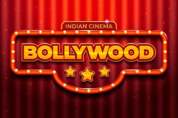 Conception réaliste de signe de cinéma de bollywood