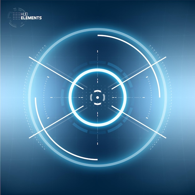 Conception De Réalité Virtuelle D'élément De Cercle D'interface Utilisateur Futuriste De Science-fiction Hud. Abstrait. Transparence De L'écran Vecteur Premium