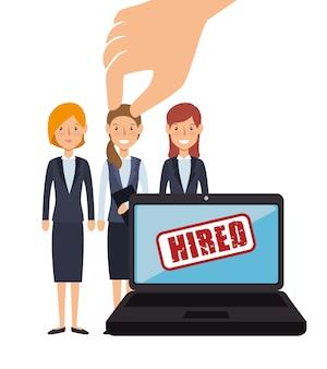 Conception de recrutement de ressources humaines virtuel isolé