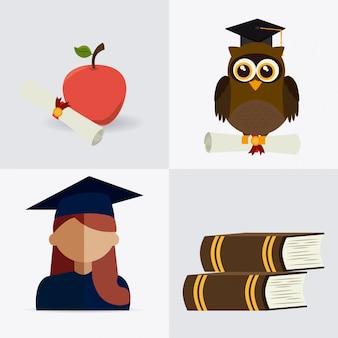 Conception de la remise des diplômes.