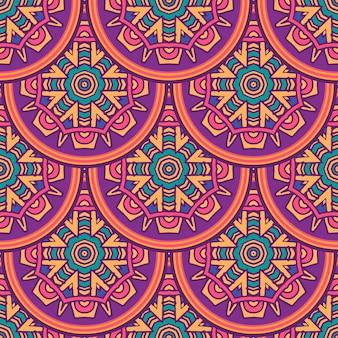 Conception de répétition de mandalas sans couture ethniques indiens tribaux