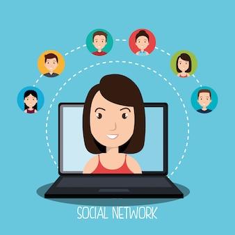 Conception de réseau social