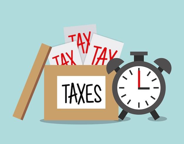 Conception de responsabilité fiscale, illustration vectorielle eps10 graphique