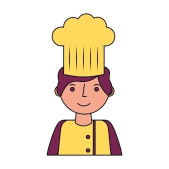Conception de restaurant chef avatar caractère illustration vectorielle