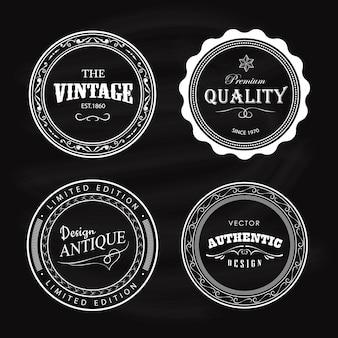 Conception Rétro De Cercle étiquette Vintage Badge Antique Vecteur Premium