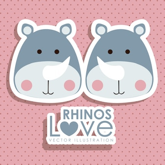 Conception de rhinocéros
