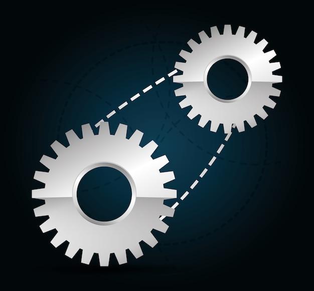 Conception de roue industrielle, illustration vectorielle