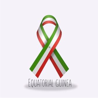 Conception de ruban de drapeau équatorial de guinée