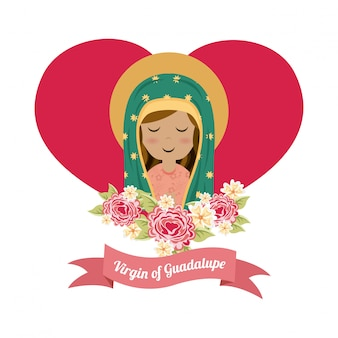 Conception de sainte marie au cours de l'illustration vectorielle fond blanc
