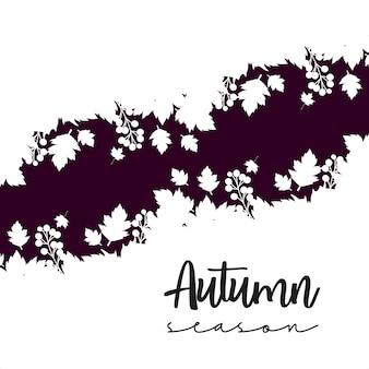 Conception de saison d'automne avec vecteur de fond clair