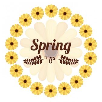 Conception de la saison de printemps