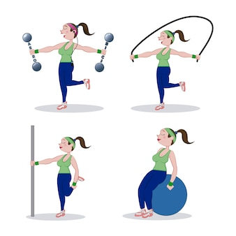 Conception de la salle de gym sur illustration vectorielle fond blanc