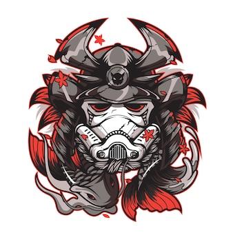 Conception de samouraï