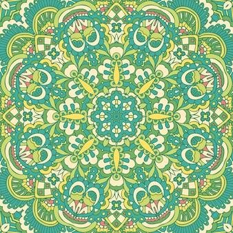Conception sans couture de festival indien tribal. motif d'art mandala coloré et lumineux.