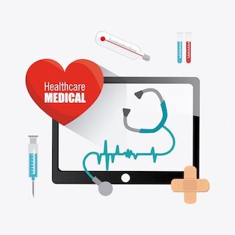 Conception de la santé médicale.