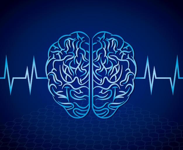 Conception de la santé mentale, illustration vectorielle eps10 graphique
