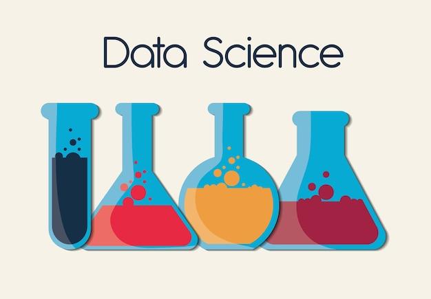 Conception de la science des données, illustration vectorielle