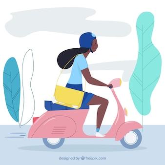Conception de scooter de livraison plat