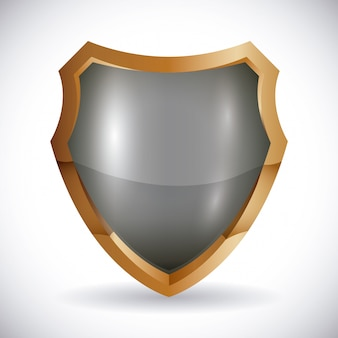 Conception de la sécurité, illustration vectorielle,