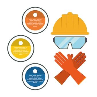 Conception de la sécurité industrielle infographique