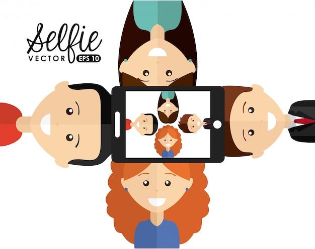 Conception de selfie