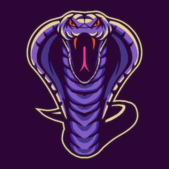 Conception de serpent cobra isolée sur violet