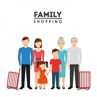 Conception de shopping en famille