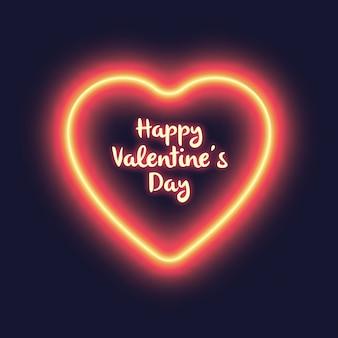 Conception de signe néon en forme de coeur saint-valentin