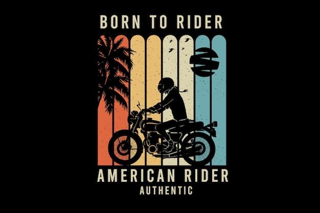 Conception de silhouette authentique de cavalier américain