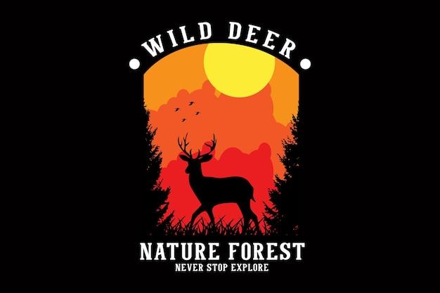 Conception de silhouette de forêt nature