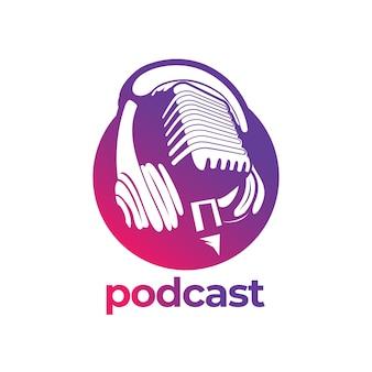 Conception simple de logo de podcast