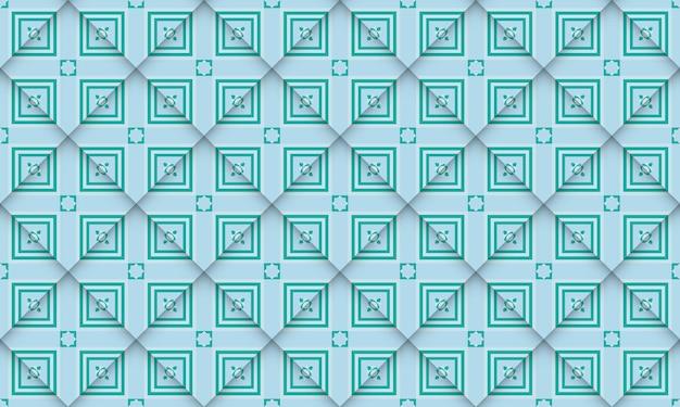 Conception simple de modèle sans couture géométrique