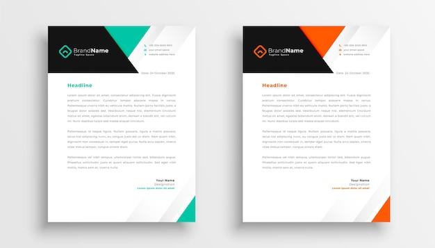 Conception simple de papier à en-tête pour votre entreprise