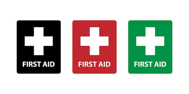 Conception simple de signe d'icône de premiers secours